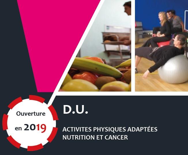 DU Activités physiques adaptées nutrition et cancer - APANC
