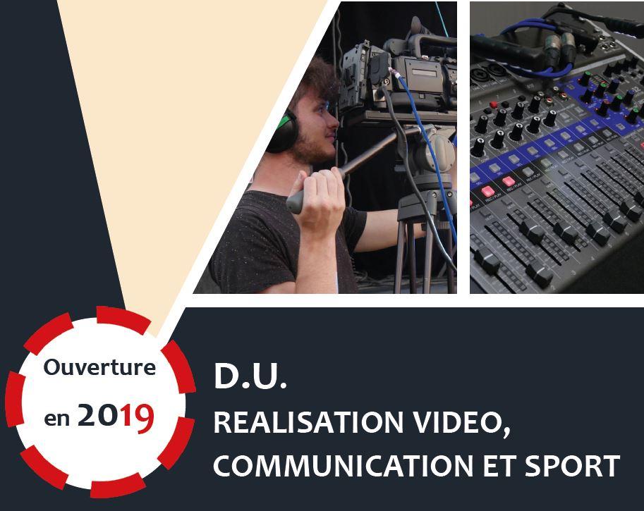 DU Réalisation vidéo, communication et sport