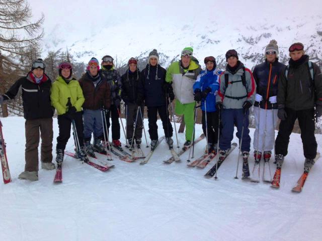 photo de groupe ski de descente